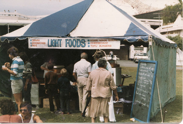 we would set up our tent and sell tofu at all the great food venues of the Southern Hemisphere
